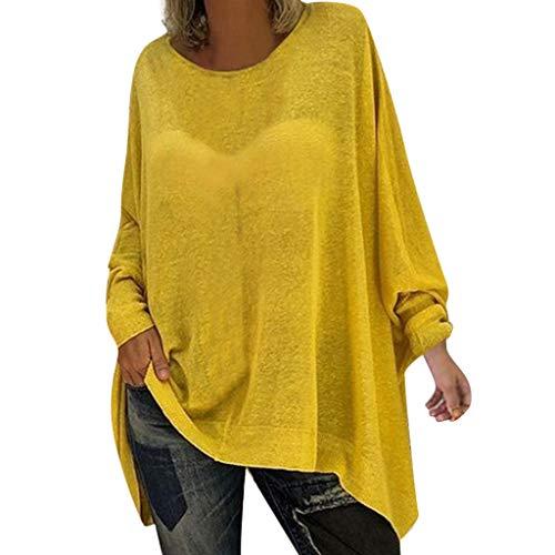 039ff0f554 Böhmen Blusen Chemisier bohème pour femme à manches longues, S, jaune, 1