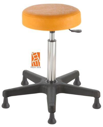 Arbeitshocker , Arzthocker, Drehhocker, Standhocker Modell comfort, Hubbereich ca. 54 -73 cm, rutschfeste Bodengleiter, Sitzfarbe mais