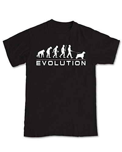 Shaw Tshirts Springer Spaniel Dog - Evolution of Dog WalkerT-Shirt
