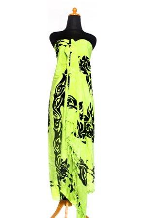 35 Modelle Sarong Pareo Wickelrock Strandtuch Tuch Wickeltuch Handtuch Original EL-Vertriebs GmbH Ciffe Tücher inklusive Schnalle Schließe aus Kokosnuss Wk2 Hell Neon Grün