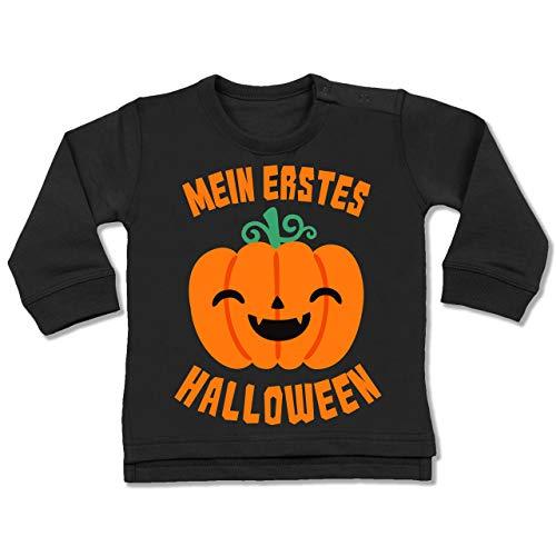 Shirtracer Anlässe Baby - Mein erstes Halloween Kürbis - 12-18 Monate - Schwarz - BZ31 - Baby Pullover