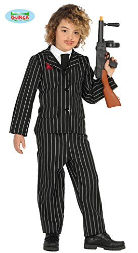 Guirca Gangster Mafia Anzug für Jungen Gr. 110-146, Größe:140/146 (Mafia Kostüme Anzug)