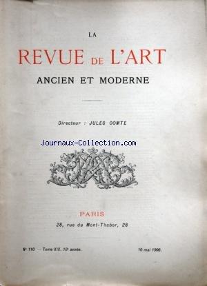 REVUE DE L'ART (LA) [No 110] du 10/05/1906 - L...