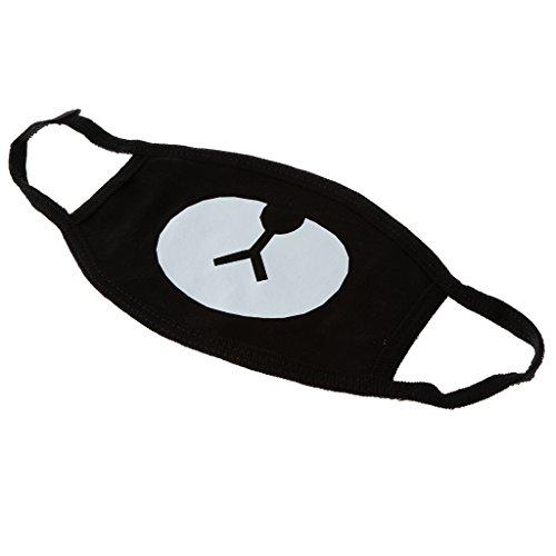 Preisvergleich Produktbild Gazechimp Unisex schwarz Mundschutz Maske Cartoon Kälteschutz Gesichtsmaske