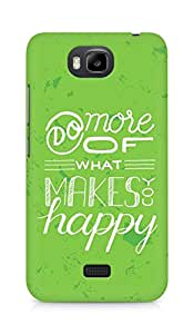 AMEZ do more of what makes you happy Back Cover For Huawei Honor Bee
