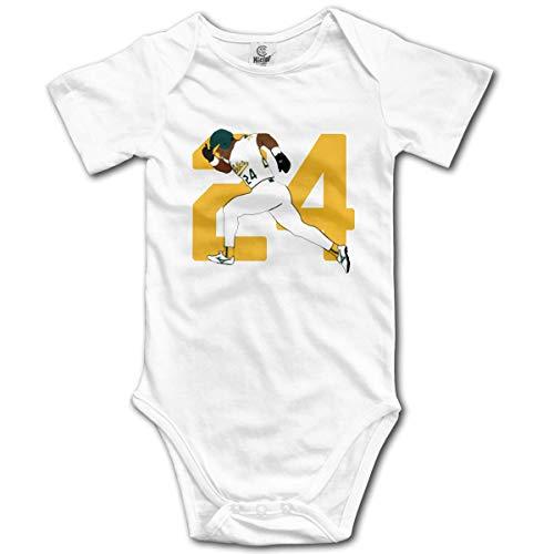 Babybekleidung Jungen Mädchen T-Shirts, Unisex Baby Onesie Bodysuit Oakland Henderson 24 Short-Sleeve Bodysuit for Boys and Girls -