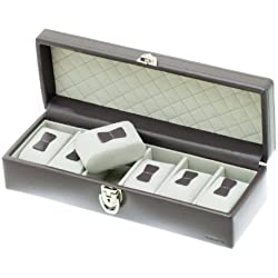 """Davidt's Unisex Watch Box For 6 Watches """"Chrome"""" 378906.34 Grey"""
