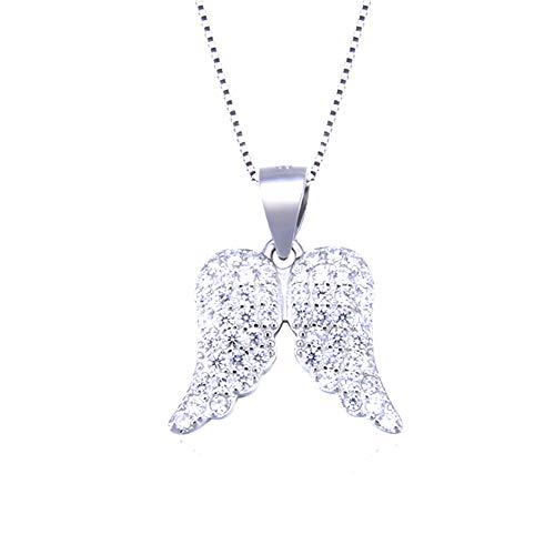 XINGYU EngelsflüGel 925 Sterling Silber Halskette AnhäNger Mode MäDchen Schmuck FüR Ihre Frau Mama Freundin Mit Geschenkbox, Silver