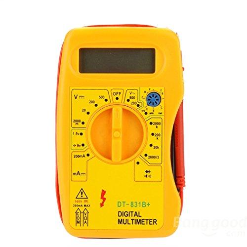 mark8shop DT-831B + Profesional multímetro digital DMM Voltímetro Amperímetro probador de óhmetro)
