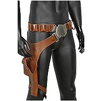 Mesky Cosplay Cinturón de Halloween con Pistolera PU Cuero Pretina Película Accesorios de Vestuario para Hombres