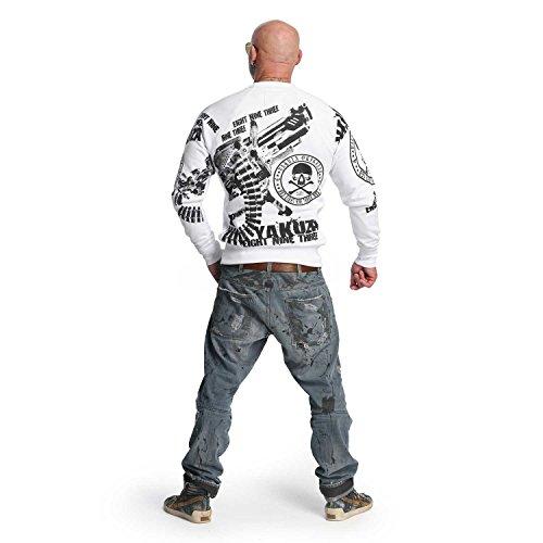 Yakuza Original Herren Armory Pullover Sweater Weiß