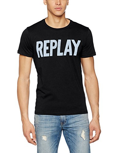 Replay Herren T-Shirt M3261 .000.2660 Schwarz (Black 98)