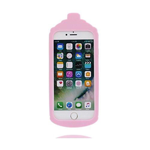 "Case iPhone 6S Plus Hülle, TPU materielles flexibles Handyhülle iPhone 6 Plus / 6s Plus Cover 5.5"" , Schock-Beweis [ 3D Cartoon Mini Katze ] - Pretty Soft lila"