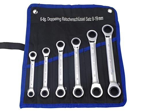 Doppel Ringratschenschlüssel Satz 8-19mm 6-tlg.