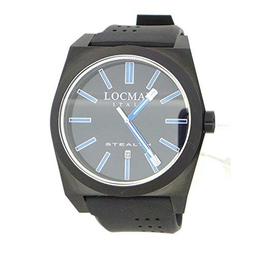 Watch Locman Men Quartz 0201bkbkfbw1stealth (Rechargeable) quandrante Steel Black Strap CAUCCIU '