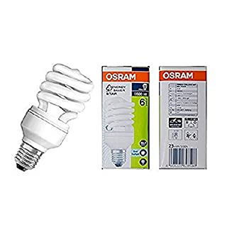 Osram Duluxstar Mini Twist CFL Energy Saving Light Bulb - 6500 K Cool Daylight, E27 23 W