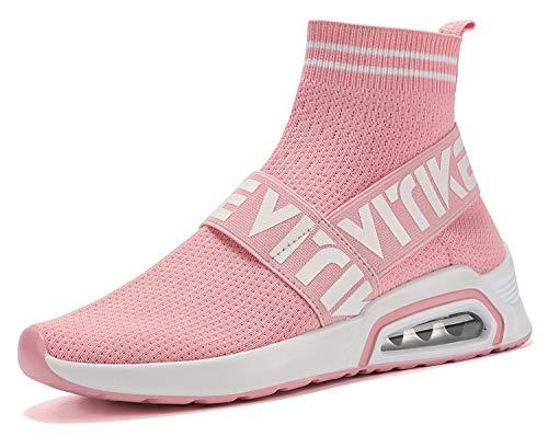 Sneakers Jungen Mädchen Sneaker Damen Sportschuhe Outdoor Schuhe Jungen Turnschuhe Laufschuhe Schnürer Freizeit Schnürer Sportschuhe Kinder Sneaker, 4-pink, 38 EU ()
