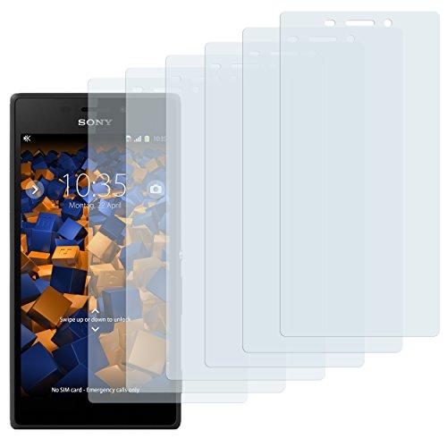 mumbi Schutzfolie kompatibel mit Sony Xperia M2 Folie klar, Bildschirmschutzfolie (6x)