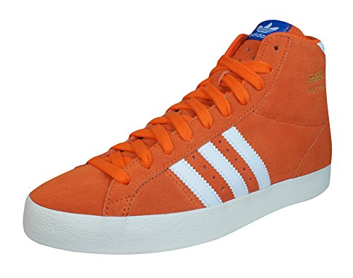 adidas Originals Basket Profi Herren Turnschuhe aus Wildleder -Orange-38.5