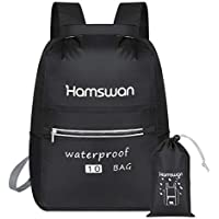 HAMSWAN Boat Dry Bag, Waterproof Backpack Bag with Waist Strap, Roll Top Dry Compression Sack for Beach Swim Kayaking Hiking Fishing Rafting Swimming Camping