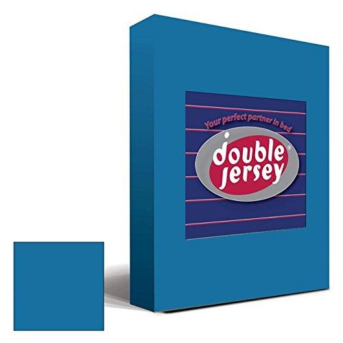 Double Jersey - Spannbettlaken 100% Baumwolle Jersey-Stretch bettlaken, Ultra Weich und Bügelfrei mit bis zu 30cm Stehghöhe, 160x200x30 Petrol - 2