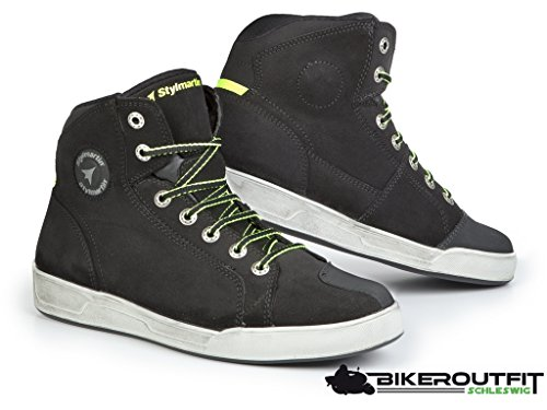 Styl Martin Moto Zapatos Botas Cortas Botas Zapatillas Seattle EVO Negro  Talla 44 a0bf517eafa