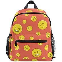 Mochilas para niños con diseño de emoticono sin costuras, mochila escolar para niños ...