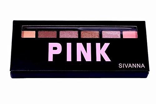 Sivanna Colors 6 Shades Eyeshadow (Pink, COSSVN000)