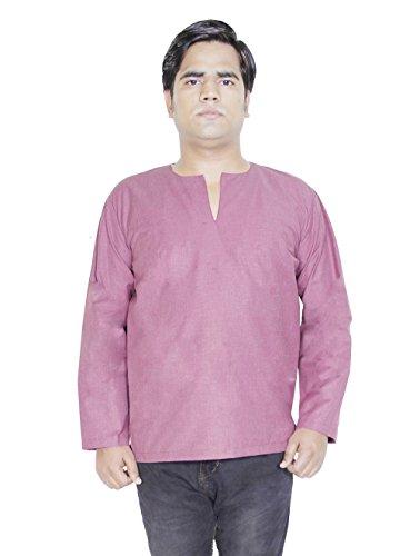 Abbigliamento mens abito a maniche lunghe della maglietta premium di cotone con scollo a V-size xl