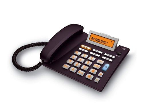 Gigaset Euroset 5040 Telefon -Schnurgebundes Telefon / Schnurtelefon - extra großer Display - Freisprechen - Große Tasten Telefon / Analog Telefon, schwarz