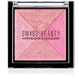 Swiss Beauty 2 Baked Blusher & Highlighter (7g, ColorSet-04)
