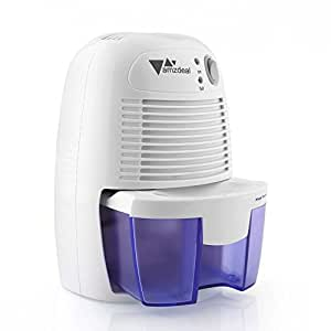 Amzdeal 500ml mini portable compact dehumidifier for home bedroom kitchen office max 250ml for Small dehumidifier for bedroom