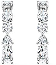 SWAROVSKI Women's Tennis Deluxe Jewelry Collection, Rhodium Finish, Rose Gold Tone Finish, Clear Crys