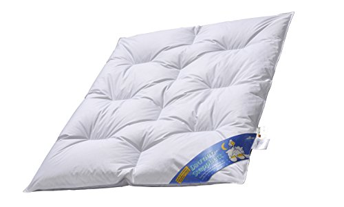 ARO Junior DAUNEN-Bett Nobless,100x135 cm, weiße sibirische Gänsedaunen 90% made in Germany