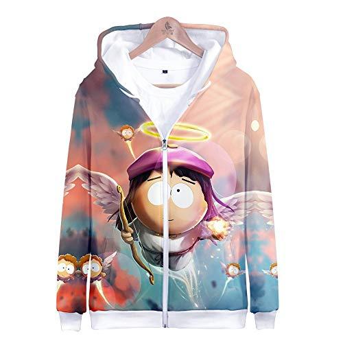 MANSPYF Kapuzenpullover,South Park, Zip-Hoodie Für Herren, Kapuzenjacke Mit Reißverschluss, 丨 3D Weich Und Stilvoll Cool 丨 Ms, M, Photo Color South Park Hose