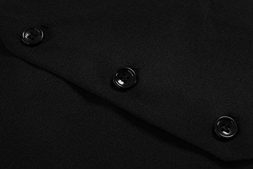 CRAVOG Mode Costume Veste Gilet Homme Slim Fit Jacket Tops Sans Manches Mince cintré Pour Business Formel Noir