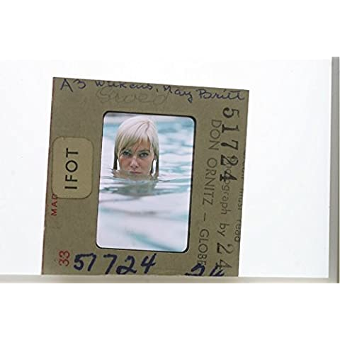 Slides photo of May Britt in the water. - Water Slide Transfer