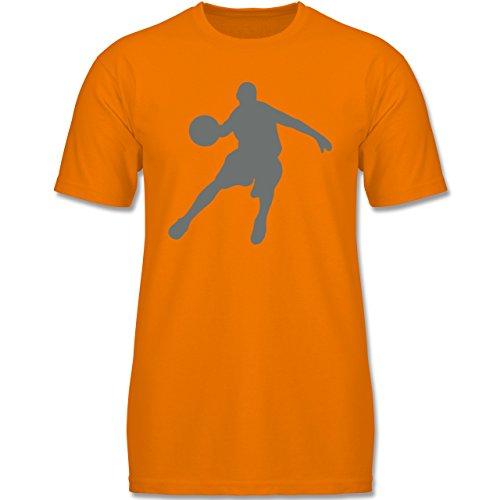 Sport Kind - Basketballspieler - 164 (14-15 Jahre) - Orange - F140K - Jungen T-Shirt