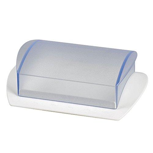 Westmark 21162270 Beurrier de Table avec échelle en Blanc/Transparent, Plastique, 16 cm