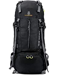 GBT De Gran Capacidad Mochila De Viaje Al Aire Libre Del Alpinismo De Nylon Impermeable , Black,black