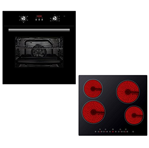 cookology-oven-hob-bundle-black-unbranded-60cm-built-in-electric-fan-oven-with-digital-programmable-