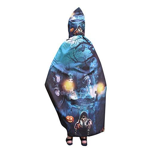 (Yesmile Kinder Halloween Kleidung Kinder Halloween Flügel Poncho Schal Kostüm Zubehörteil Robe Halloween Kostüm-B)