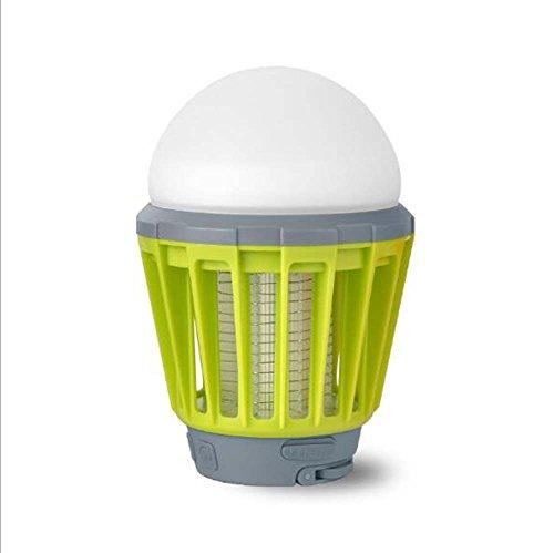 Preisvergleich Produktbild Multifunktions-LED-Birne im Freien beweglicher Moskito-Insektenvernichter Fliegenklatsche-Camping-Zelt USB wasserdichte Dimmable Lampe ( Color : Green )