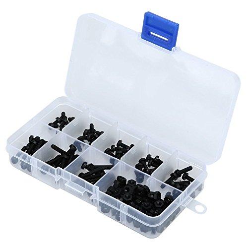 160pcs M3Nylon pulsante testa bullone esagonale Socket Vite Assortimento Kit