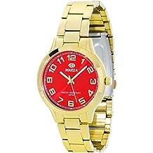 Reloj Marea Señora B21151/6 Dorado y Rojo esfera grande