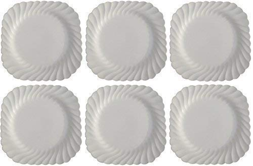 Johnson Brothers - WHITE Regency Dekofiguren, Set mit 6 Quadrat Teller 20 cm - Regency Dessert