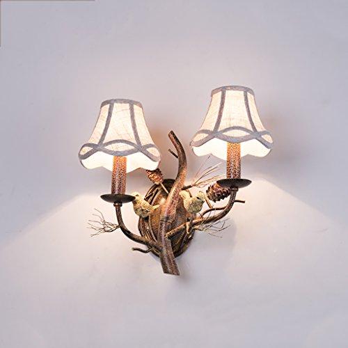 Wandleuchten Retro-Wandleuchte Kreative Eisen Vögel Wandleuchten Wohnzimmer Schlafzimmer Nachttisch Lampe Tannenzapfen Leuchten Dekorative Wandleuchten ( Farbe : B ) -