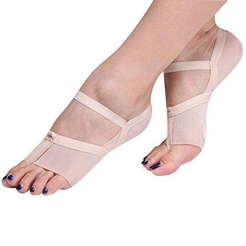 ANGTUO Bauchtanz / Ballett Tanz Zehenspitze Praxis Schuhe Fuß Schutz Socken Kostüm Gamaschen(1 Paar), (Kostüme Bauchtanz Moderne)