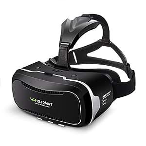 ELEGIANT 3D VR Lunettes Google Carton 3D Jeux Vidéo Lunettes VR casque Compatible avec 3,5''-6,0
