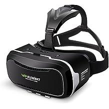 Casque VR, ELEGIANT 3D VR Lunettes Google Carton 3D Jeux Vidéo Lunettes VR Casque 360 Affichage de réalité Virtuelle avec4.0-6,0 pouces taille de l'écran Compatible avec Samsung Galaxy Mega 2 / Galaxy